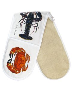 Shellfish Oven Gloves folded with crab by Richard Bramble