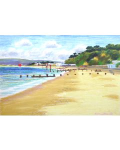 Canford Cliffs from Branksome Chine by Richard Bramble