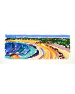 Quaisne Bay & St Brelades Bay, Jersey, Original Painting