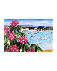Rhododendrons from Evening Hill & Poole Harbour Greeting Card