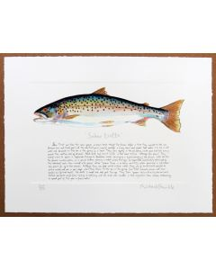 Sea Trout Print with text by Richard Bramble