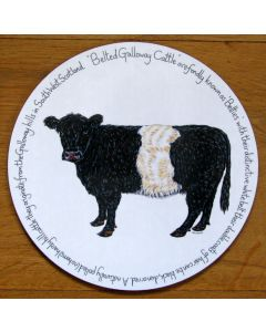 Belted Galloway Cow Tablemat by Richard Bramble