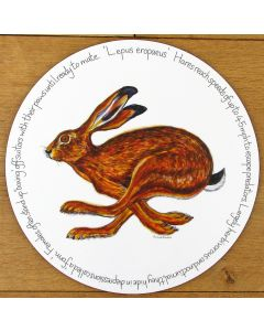 Hare Running Tablemat by Richard Bramble
