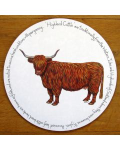 Highland Cow Tablemat by Richard Bramble