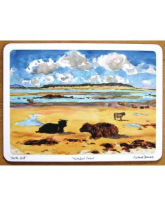 Kirkibost Island, North Uist, Outer Hebrides Tablemat by Richard Bramble
