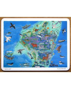 North Uist Map, Outer Hebrides Large Tablemat by Richard Bramble