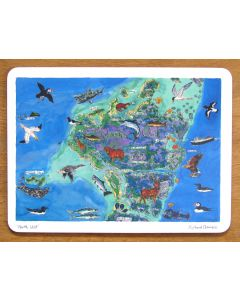 North Uist Map, Outer Hebrides Tablemat by Richard Bramble