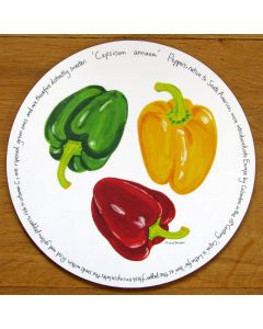 Peppers Tablemat by Richard Bramble
