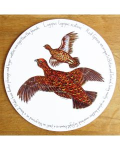 Red Grouse Tablemat by Richard Bramble
