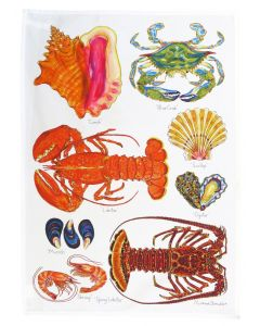 Richard Bramble North American & Tropical Shellfish Tea Towel