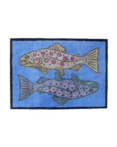 Turtle Mat - Gamefish Blue Design Medium size by Richard Bramble