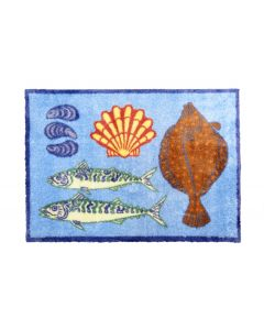 Turtle Mat - Plaice Blue Design Medium