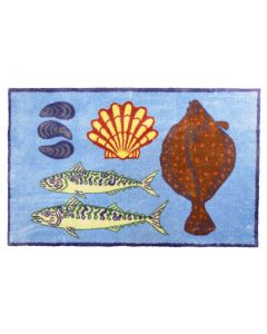 Richard Bramble Plaice Design LARGE Size Floor Mat