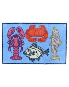 Richard Bramble Fish & Shellfish Design Large Size Floor Mat