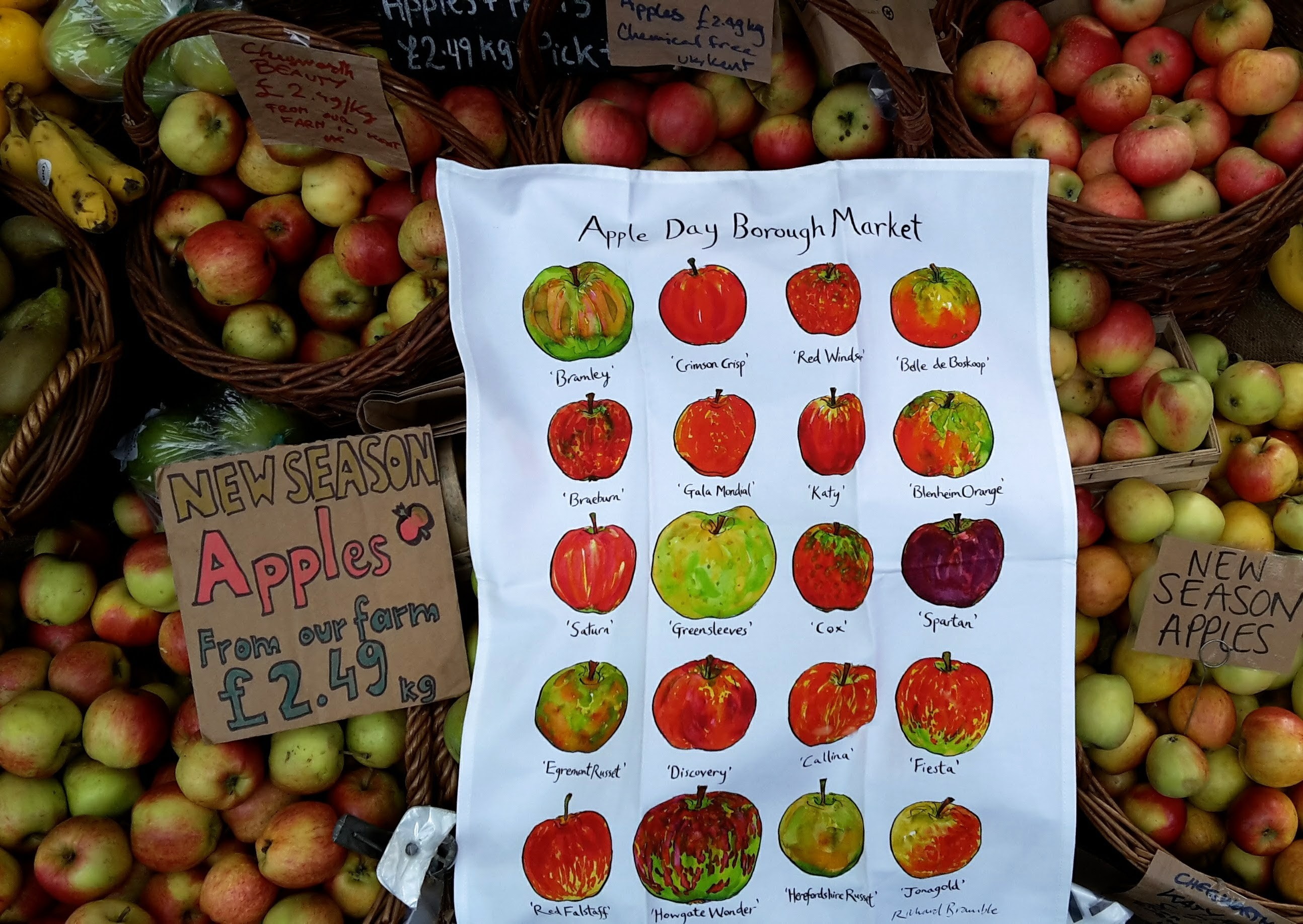 We are at Borough Market's Apple Day Celebration
