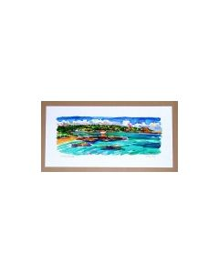 Richard Bramble Archirondel Bay, Island of Jersey in the Channel Islands, limited edition print