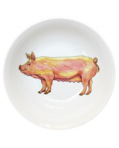 Richard Bramble Large White Pig 13cm Bowl
