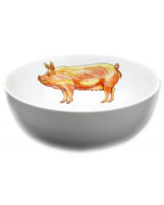 Richard Bramble Large White Pig 16cm Bowl