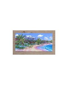 Delphi Club in the Bahamas, from the Beach, Greetings Card