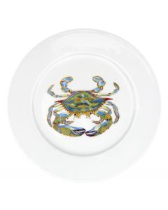 Blue Crab 19cm Flat Rimmed Plate by Richard Bramble