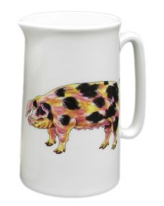 Richard Bramble Gloucestershire Old Spot & Saddleback Pig 1 Pint Jug