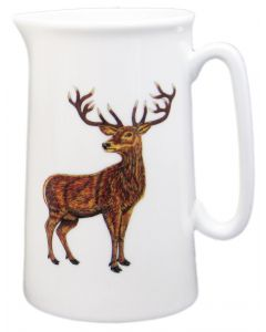 Stag 1 Pint Jug by Richard Bramble