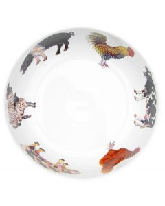 Farmyard 28cm Bowl by Richard Bramble