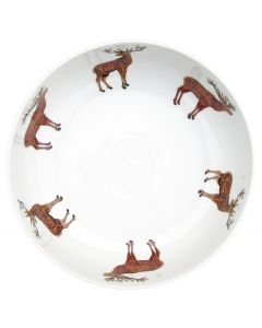 Stags 28cm Bowl by Richard Bramble