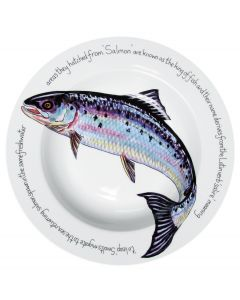 Jersey Pottery Salmon 30cm Deep Rimmed Bowl (end of line)
