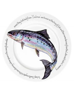 Jersey Pottery Salmon 30cm Flat Rimmed Plate (end of line)