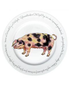 Gloucestershire Old Spot Pig 30cm Plate by Richard Bramble