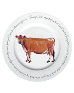 Jersey Cow 30cm plate by Richard Bramble