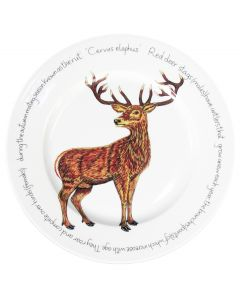 Stag standing 30cm Flat Rimmed Plate by Richard Bramble