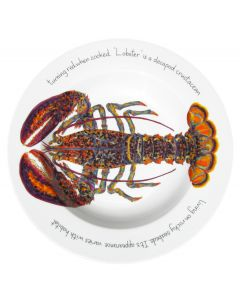 Jersey Pottery North American Lobster 30cm Deep Rimmed Bowl by artist Richard Bramble
