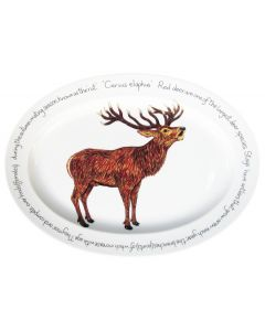 39cm Oval Stag Standing