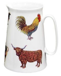 Richard Bramble Farmyard 3 Pint Jug
