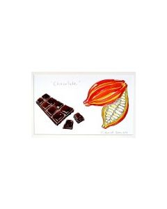 Cacoa Pod & Chocolate Bar Original Painting
