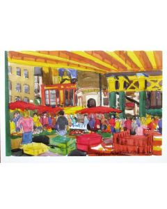 Richard Bramble Borough Market Green Market Greeting Card