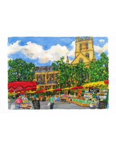 Richard Bramble Borough Market & Southwark Cathedral Greeting Card