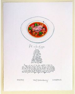 Gordon Ramsay Pigeon Recipe Artist Print by Richard Bramble