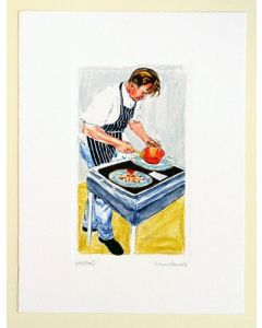 Chef Gordon Ramsay serving print by artist Richard Bramble