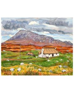 Black House and Eval Mountain, North Uist, Outer Hebrides