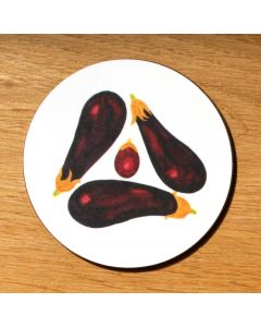 Richard Bramble Aubergine Coaster