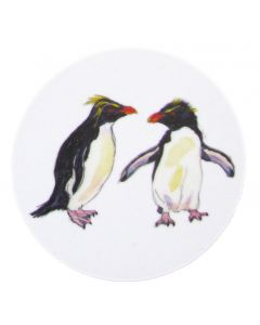 Richard Bramble Rock Hopper Penguins Coaster