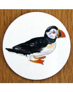 Puffin Walking Coaster by Richard Bramble