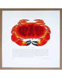 Richard Bramble Crab Print with text