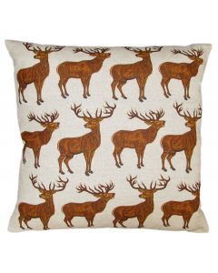 Richard Bramble Stags Linen Cushion limited edition