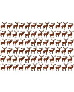 Richard Bramble Stags Linen Fabric (made to order)