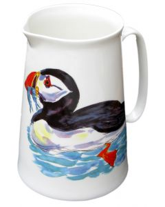Large Puffin Jug by Richard Bramble