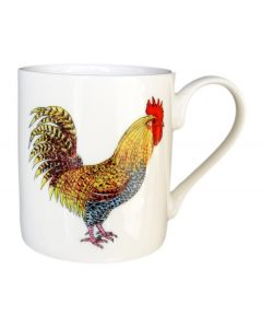 Richard Bramble Cockerel & Hen Mug (medium straight sided)